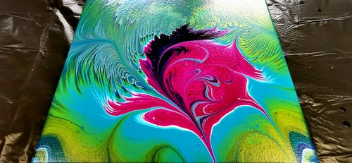 คลังภาพถ่ายฟรี ของ ภาพวาดอะคริลิ
