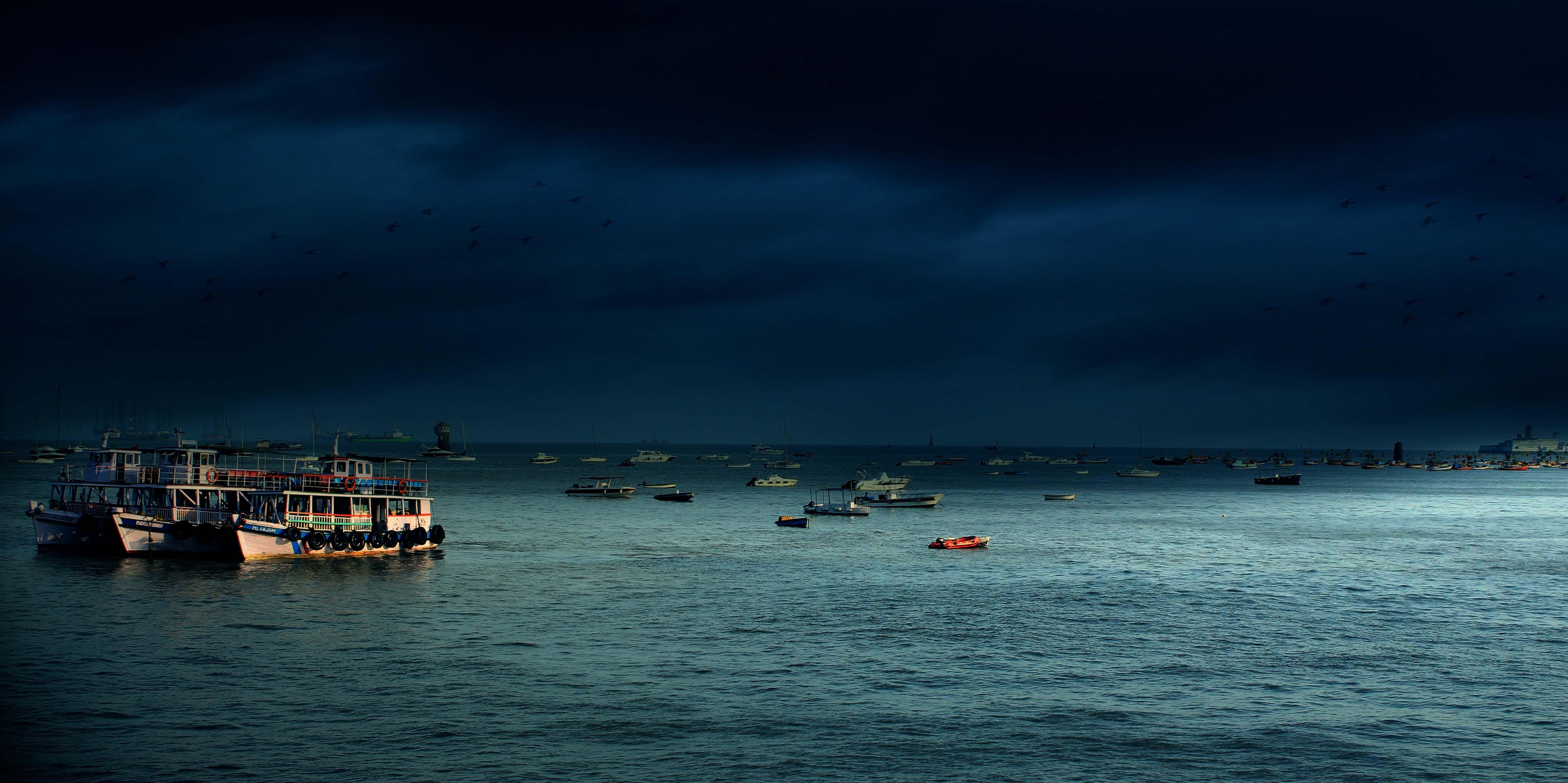 Foto d'estoc gratuïta de aigua, alba, badia, barca