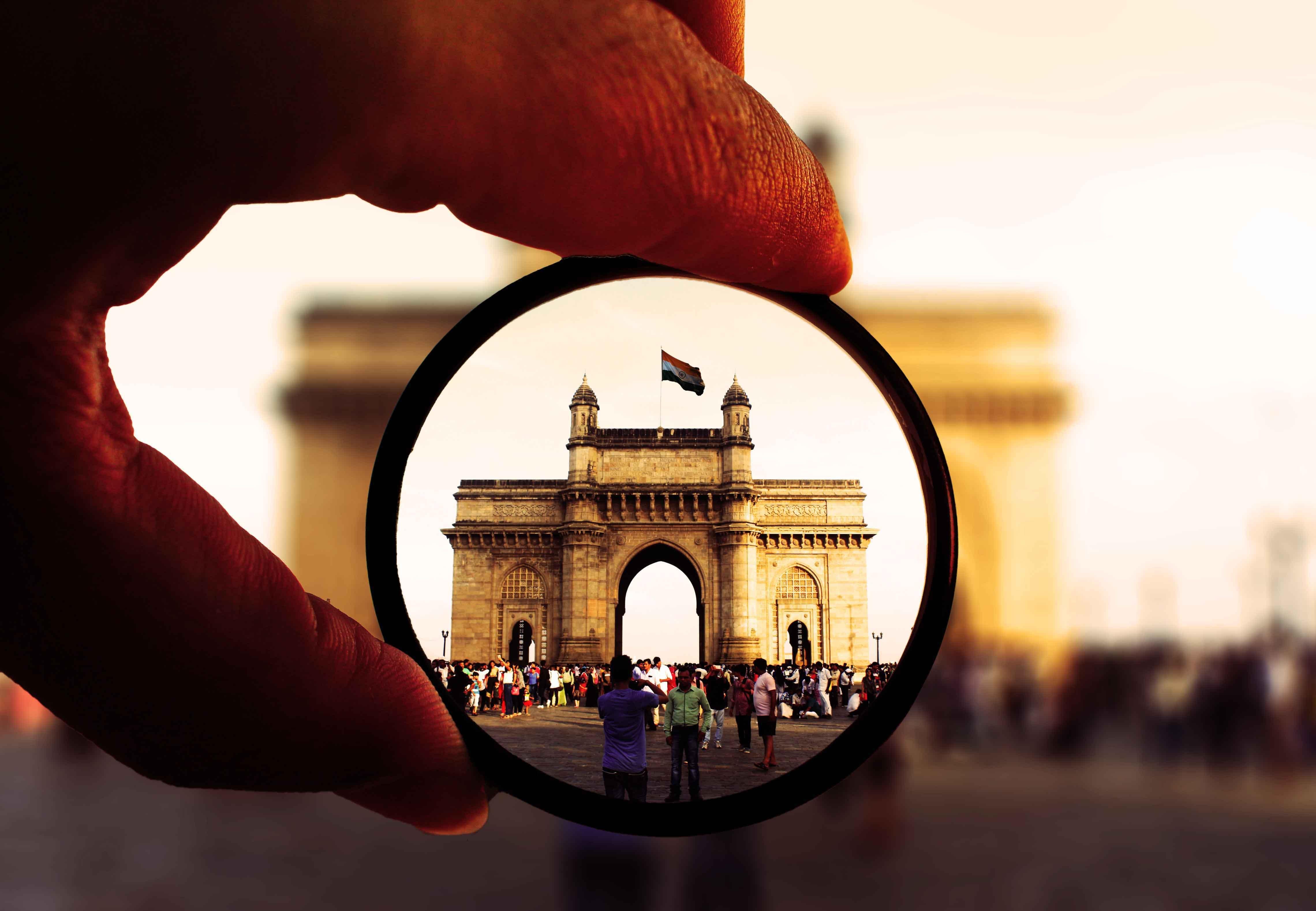 Kostenloses Stock Foto zu architektur, hand, indien, indische flagge
