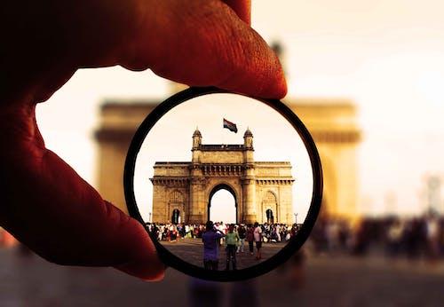 คลังภาพถ่ายฟรี ของ กลางวัน, จุดสังเกต, ธงอินเดีย, มือ