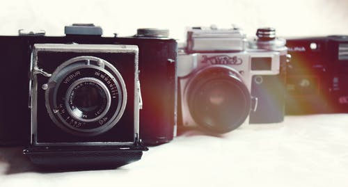 Free stock photo of old camera, photo, shooting