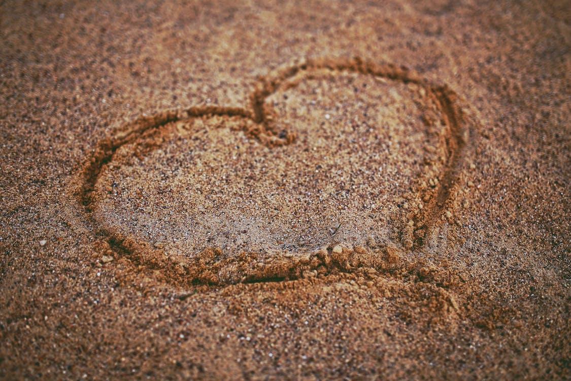 Heart on the sand