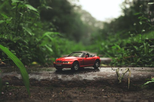 Red Die-cast Convertible Model