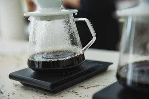 Alternative coffee brewing in cafe
