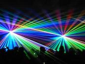 lights, silhouette, crowd