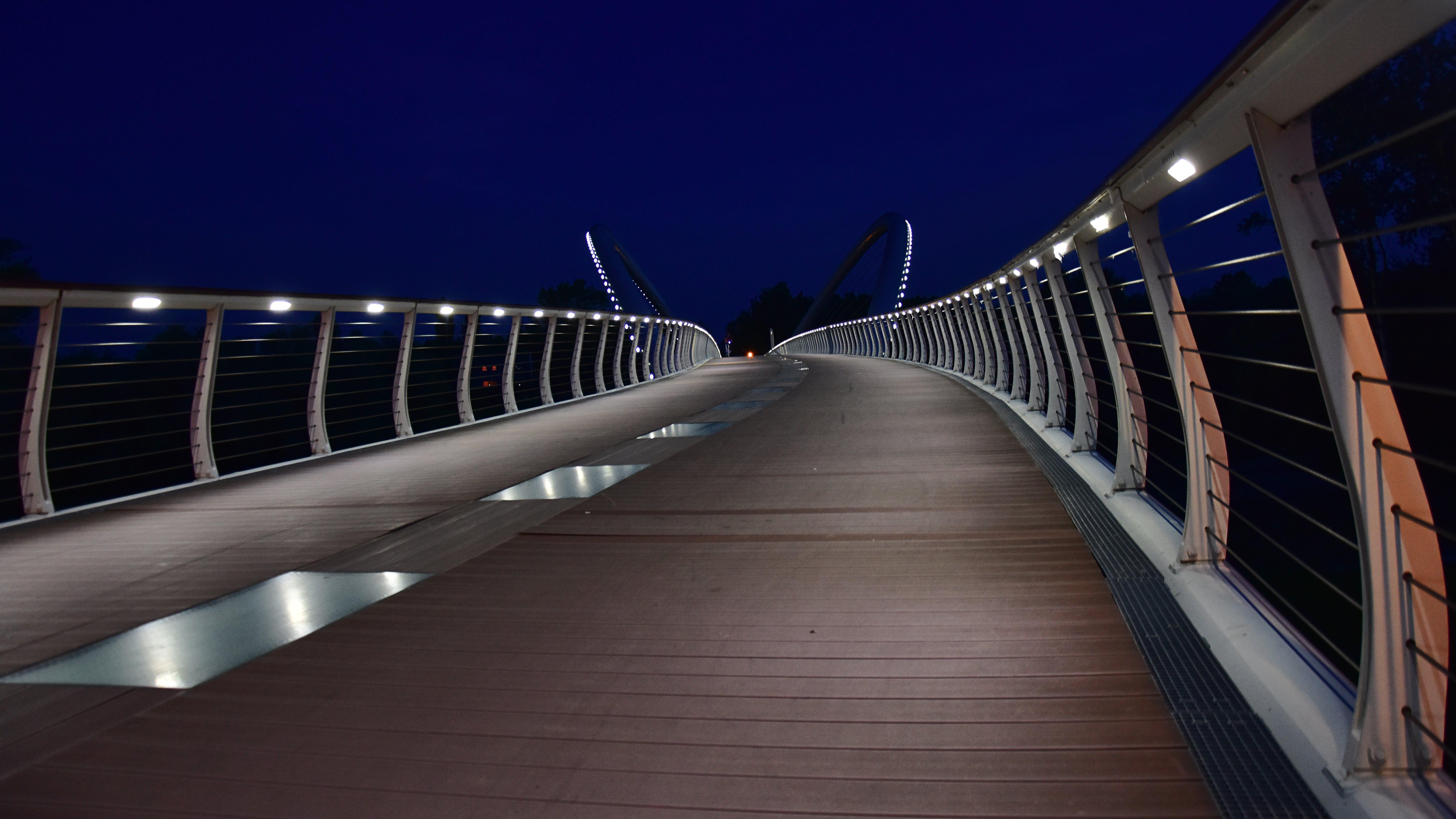 Free stock photo of bridge, city, citylights, night