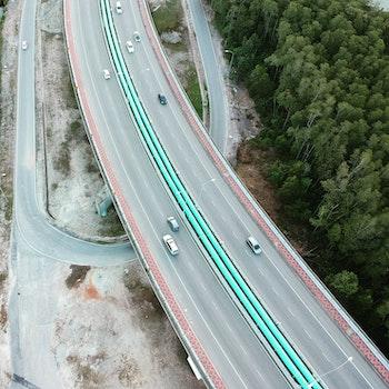Free stock photo of bridge, drone, aerial view, spark