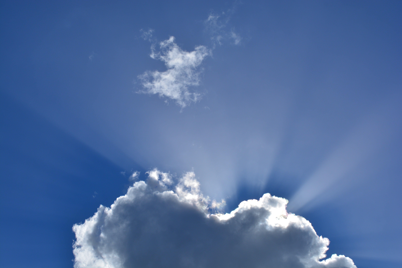 คลังภาพถ่ายฟรี ของ ท้องฟ้า, ธรรมชาติ, รังสีอาทิตย์, เมฆ