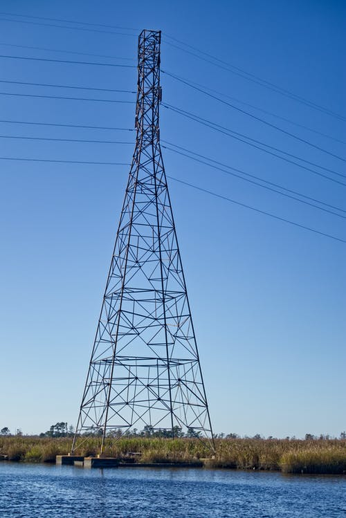Free stock photo of electric tower, electricity, power grid, power lines