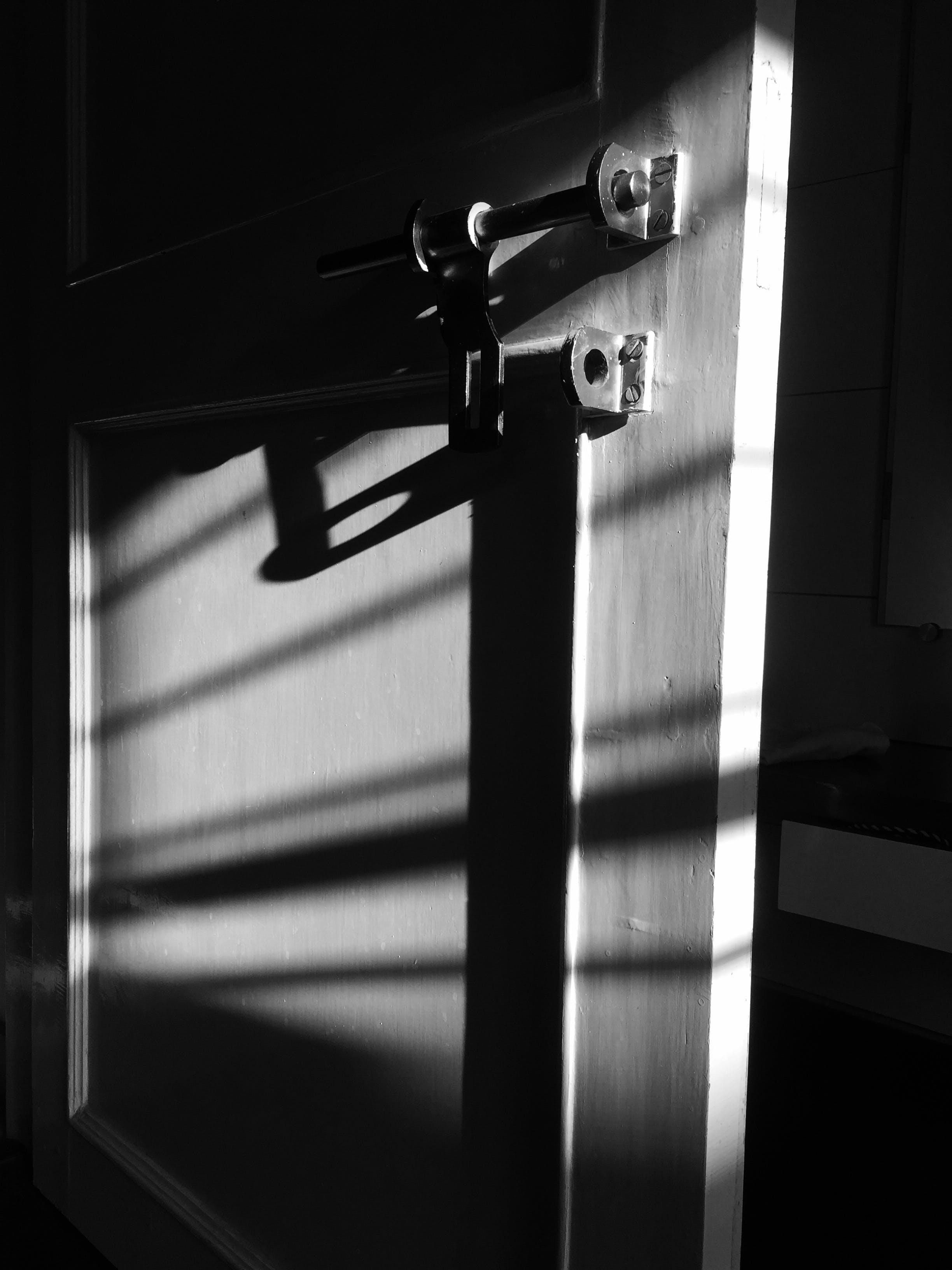 Free stock photo of black-and-white, door, door-knocker, home