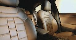 car interior, luxury car, leather seat