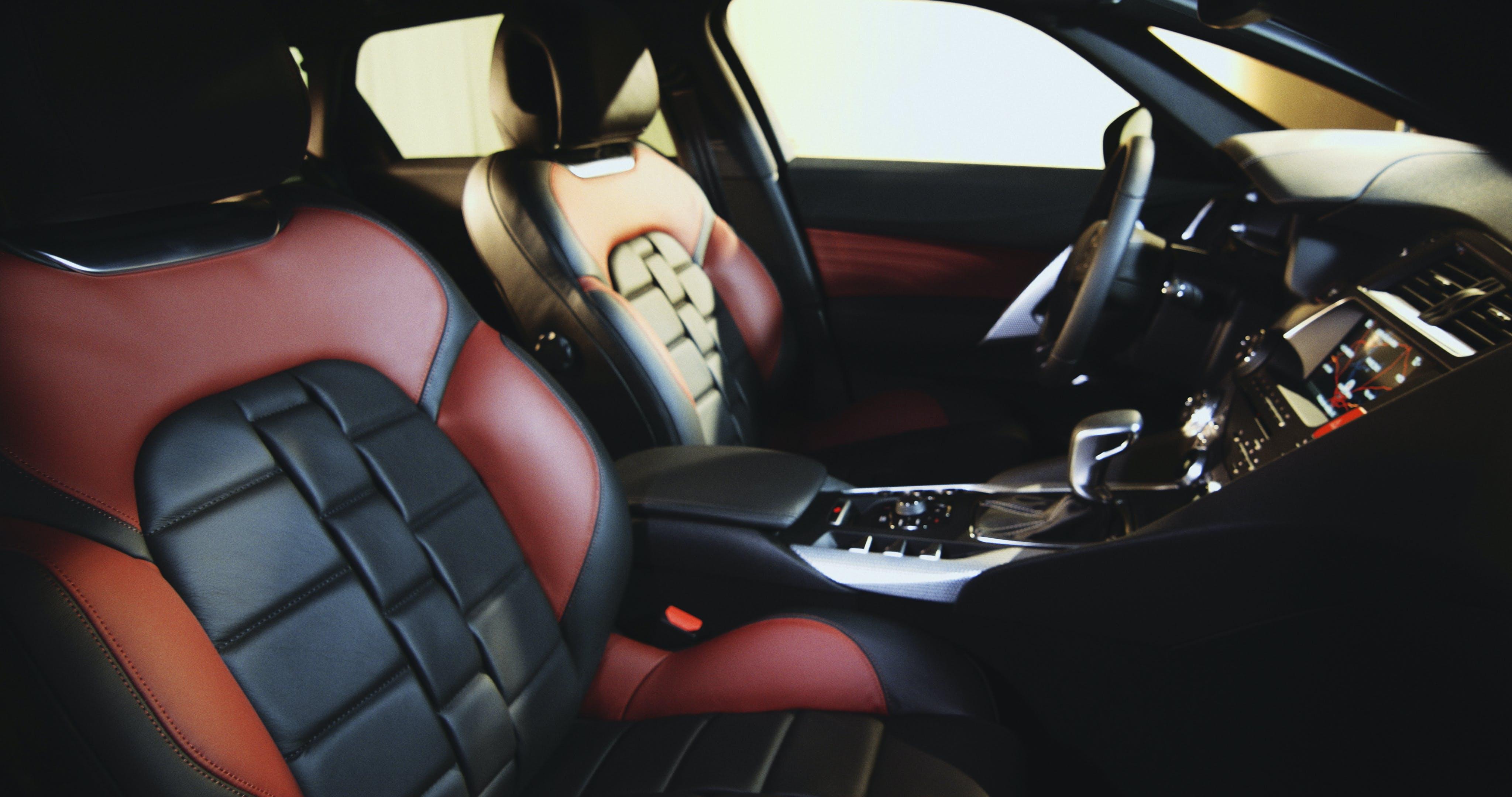 deska rozdzielcza, kierownica, luksusowy samochód