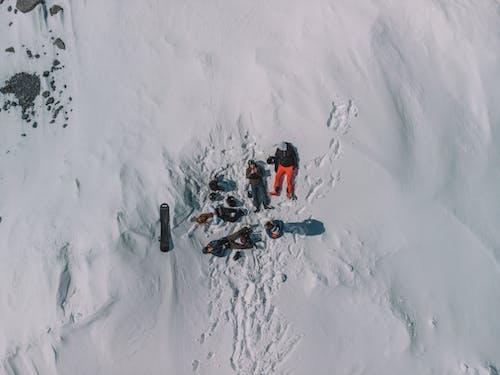 Foto d'estoc gratuïta de acció, alpinista, alps francesos, aventura