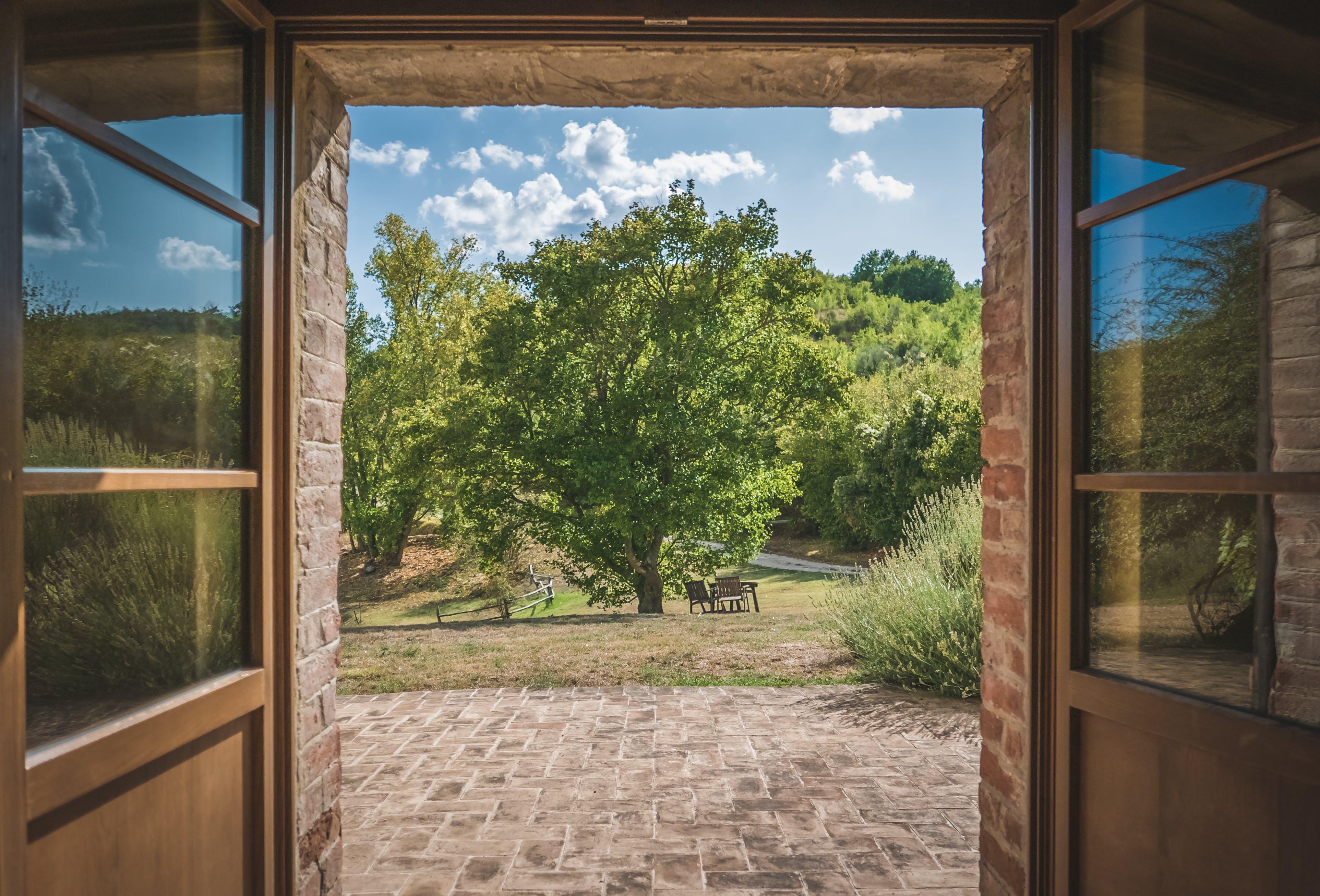 Darmowe zdjęcie z galerii z architektura, bruk, chata, drzewo