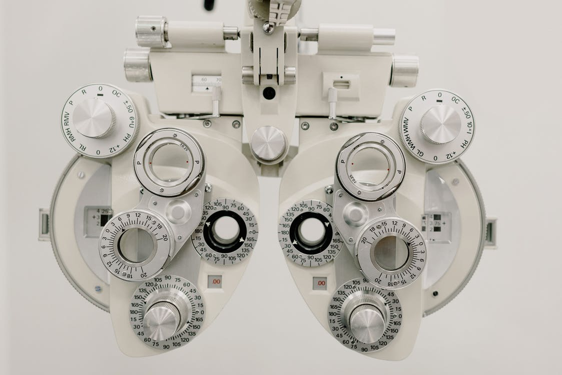 Modern professional equipment for checking eyesight