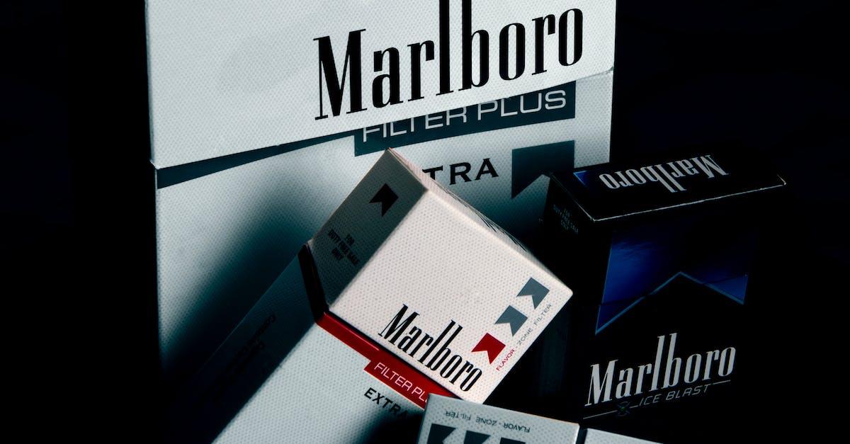 Marlboro Cigarette Boxes Free Stock Photo