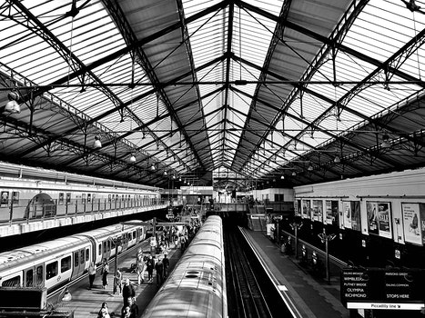 Free stock photo of black-and-white, building, public transportation, station