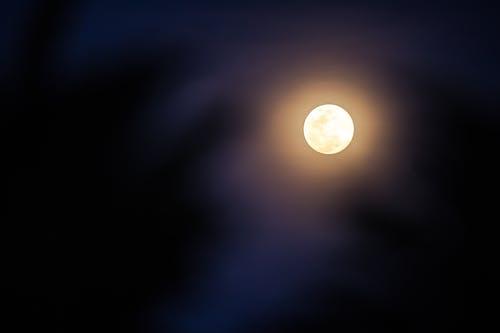 Free stock photo of blue moon, dark, full moon