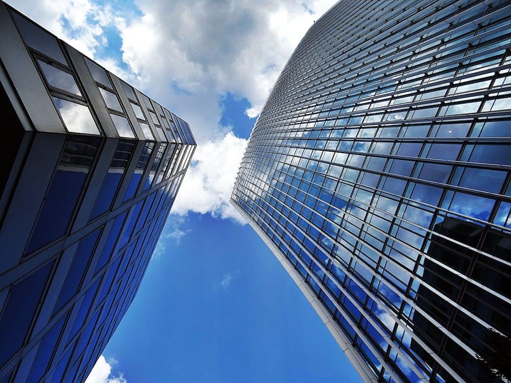 alto, architettura, bicchiere