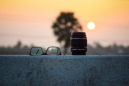 Free stock photo of dawn, landscape, sunset, camera