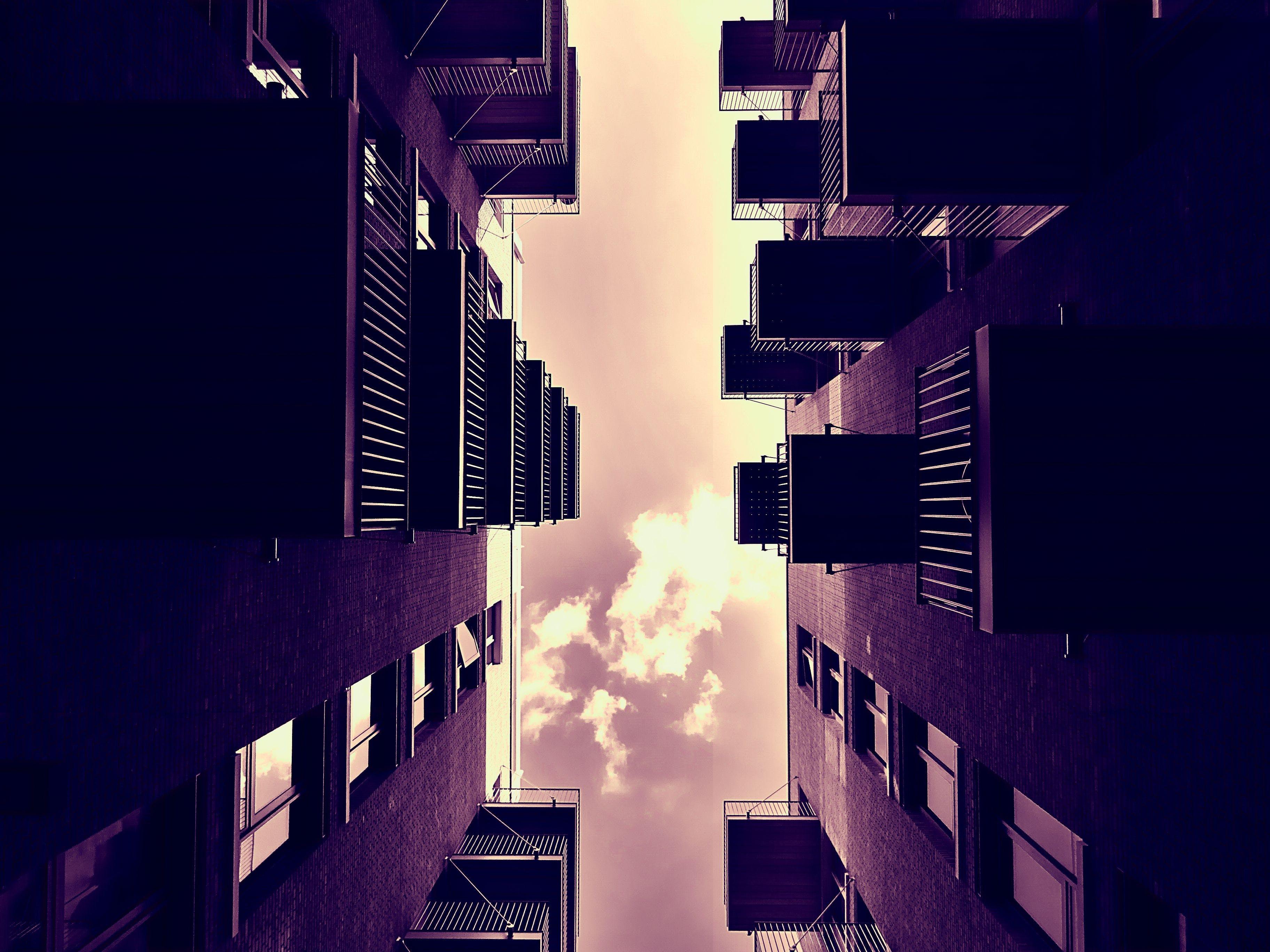 architecture, balconies, building