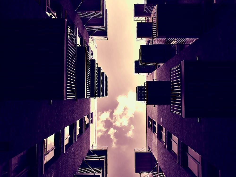 architektura, balkony, budova