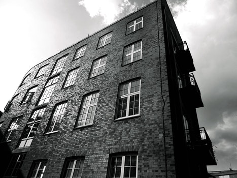 Free stock photo of black-and-white, building, bricks, wall