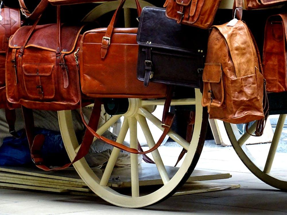 ahşap, at arabası, çantalar