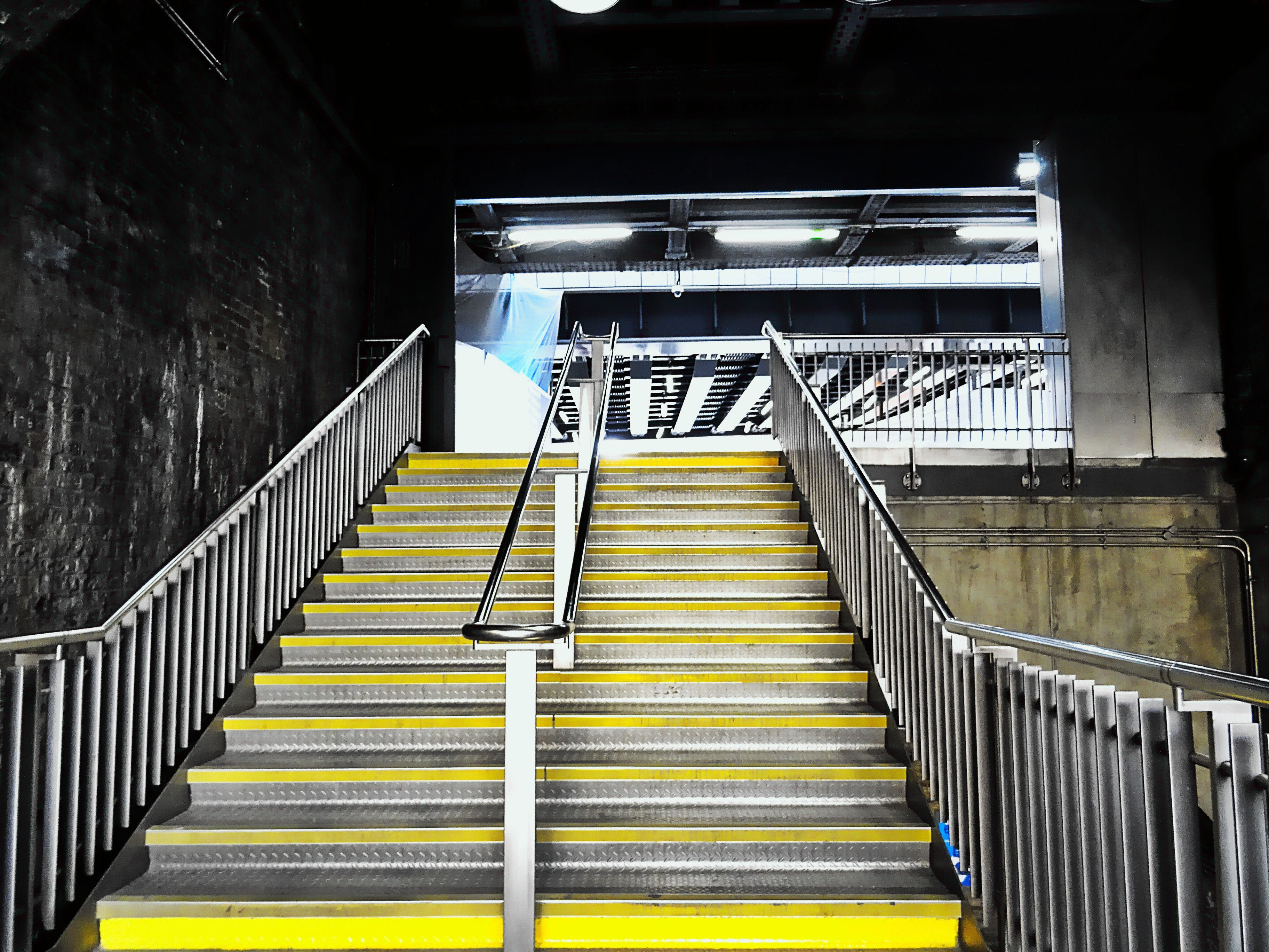 Yellow and Silver Stairs