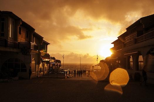 Free stock photo of sea, city, dawn, sky