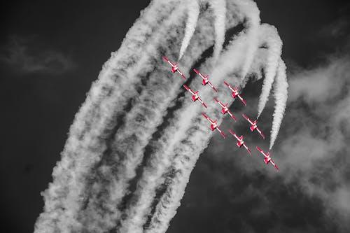 天空, 平面, 性能, 編隊飛行 的 免費圖庫相片