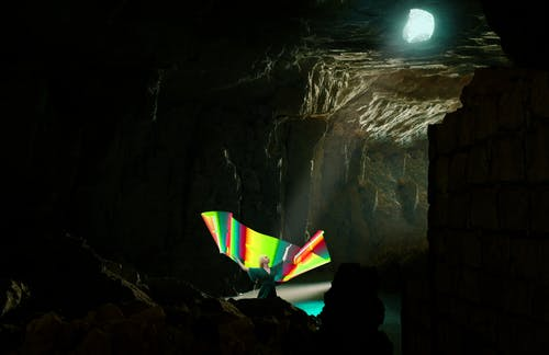 Free stock photo of cave, Color full, lightpaiting