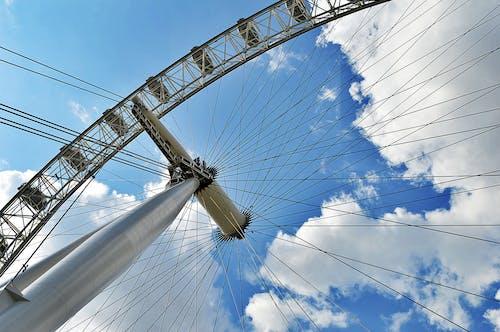 Worm's Eye View of Ferris Wheel