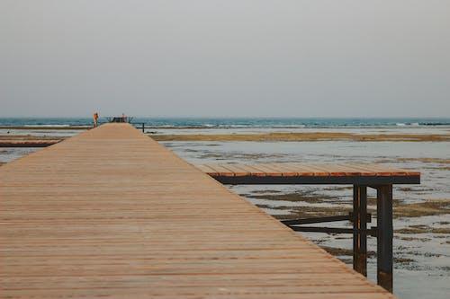 Immagine gratuita di cremagliera, legno, mare, onde