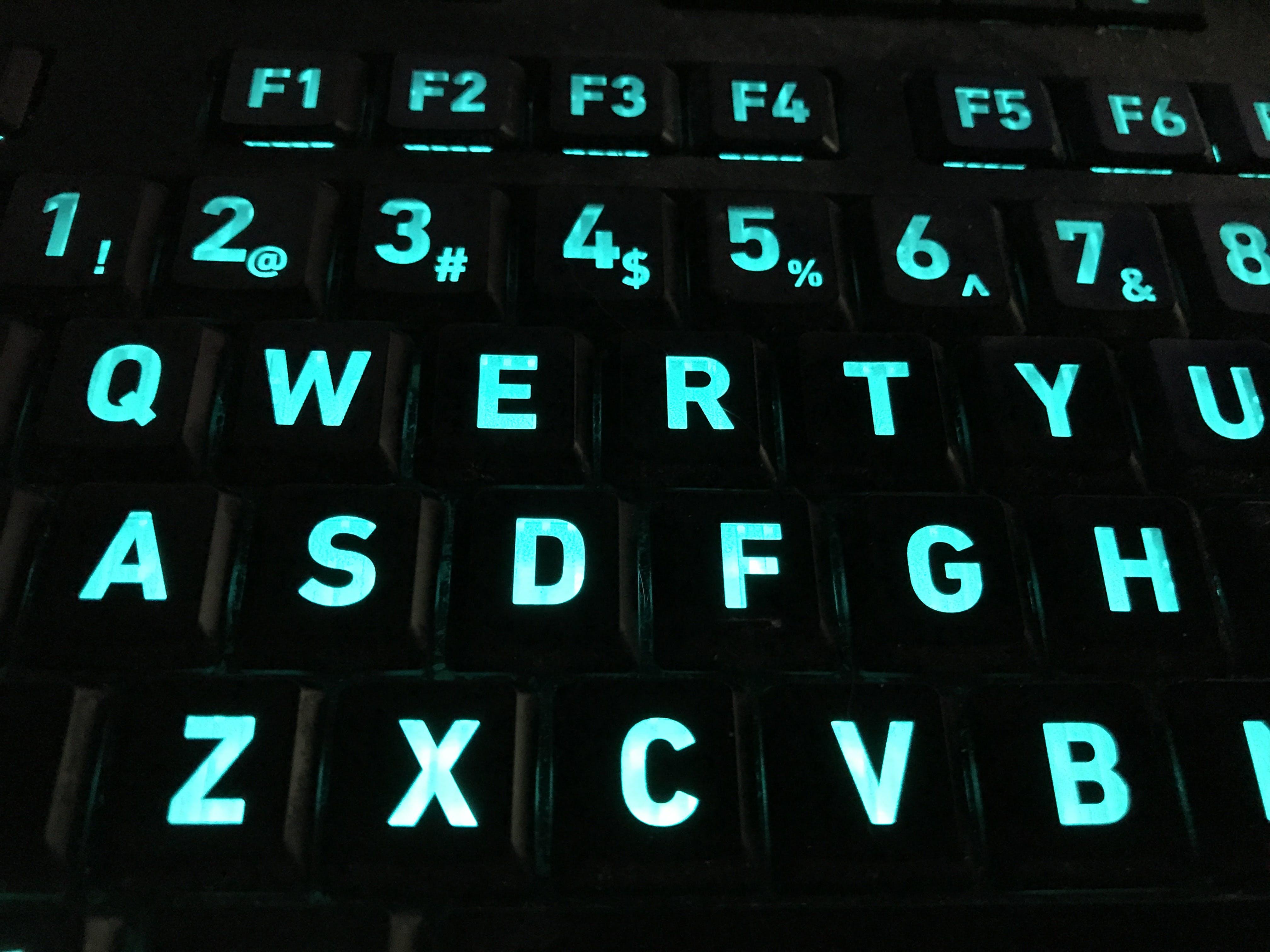 Free stock photo of backlit, computer keyboard, keyboard, led