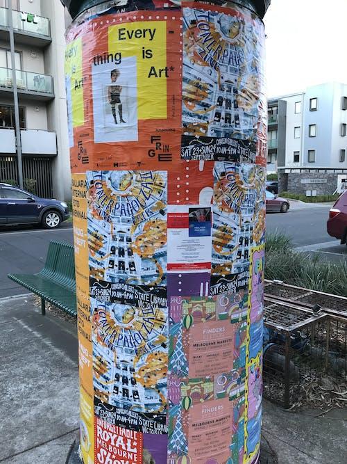 Free stock photo of advertisement, flyers, graffiti, public