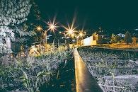 light, city, grass