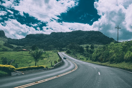 Free stock photo of road, mountains, clouds, street