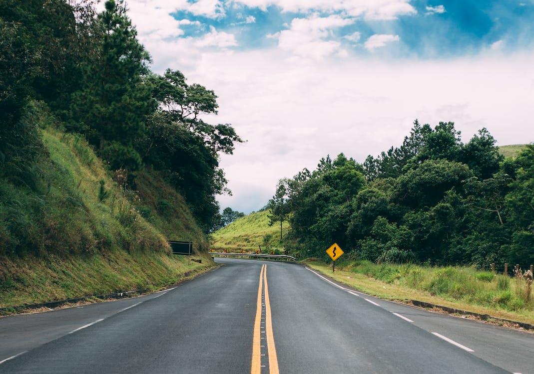 asfalt, køre, kørsel
