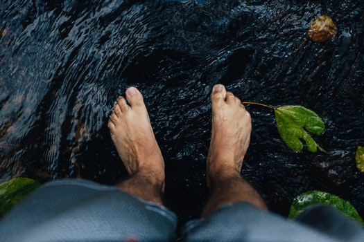 Free stock photo of nature, feet, legs, water