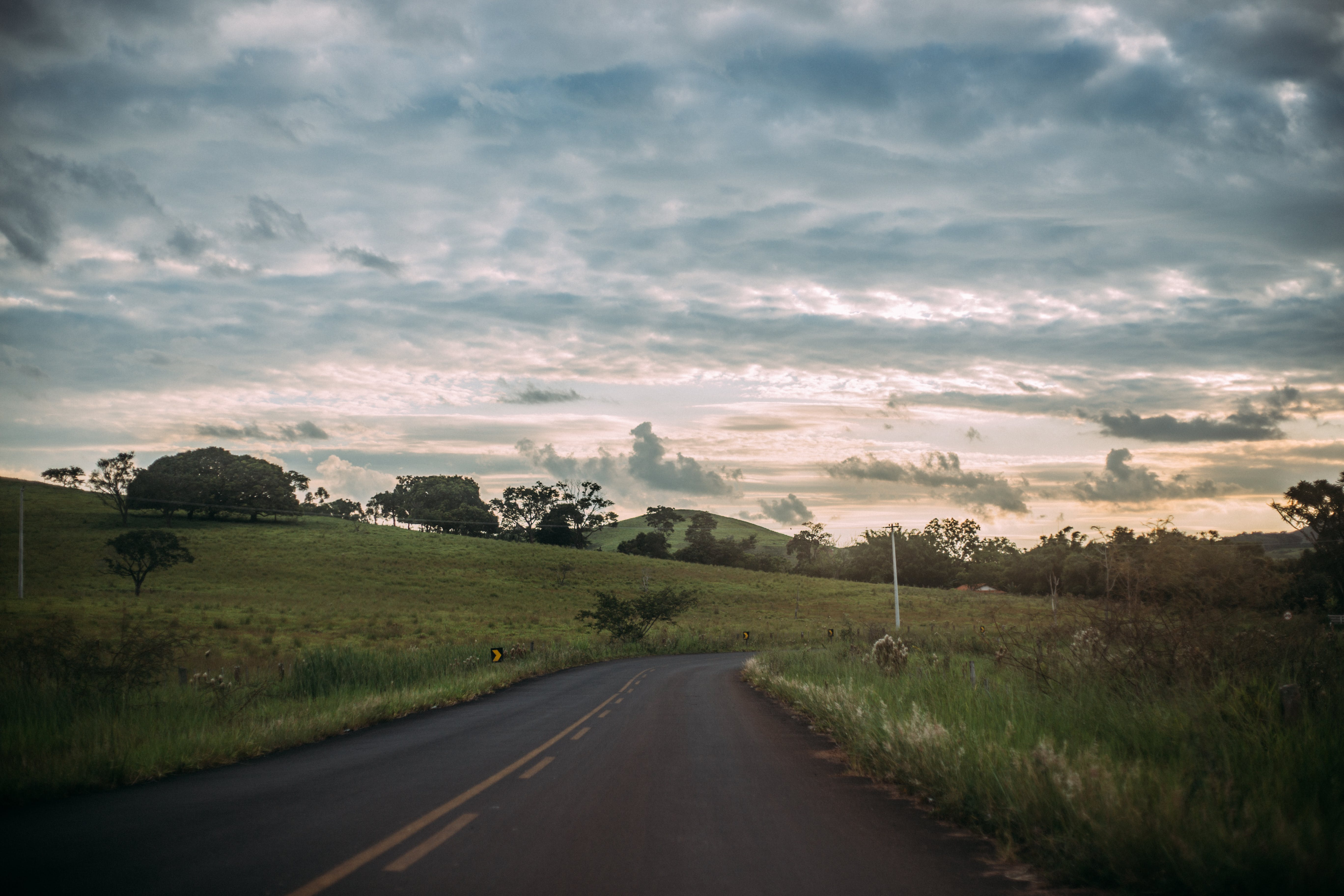 clouds, countryside, daylight