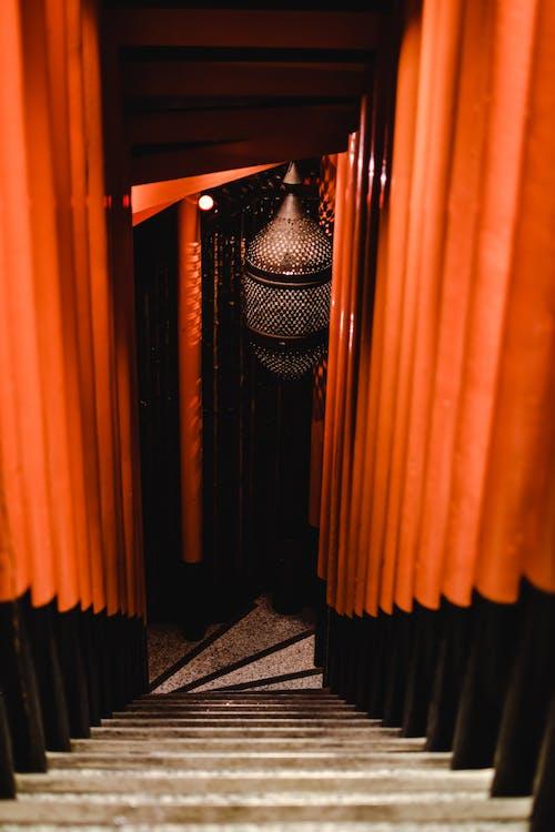 Orange and Black Window Curtain