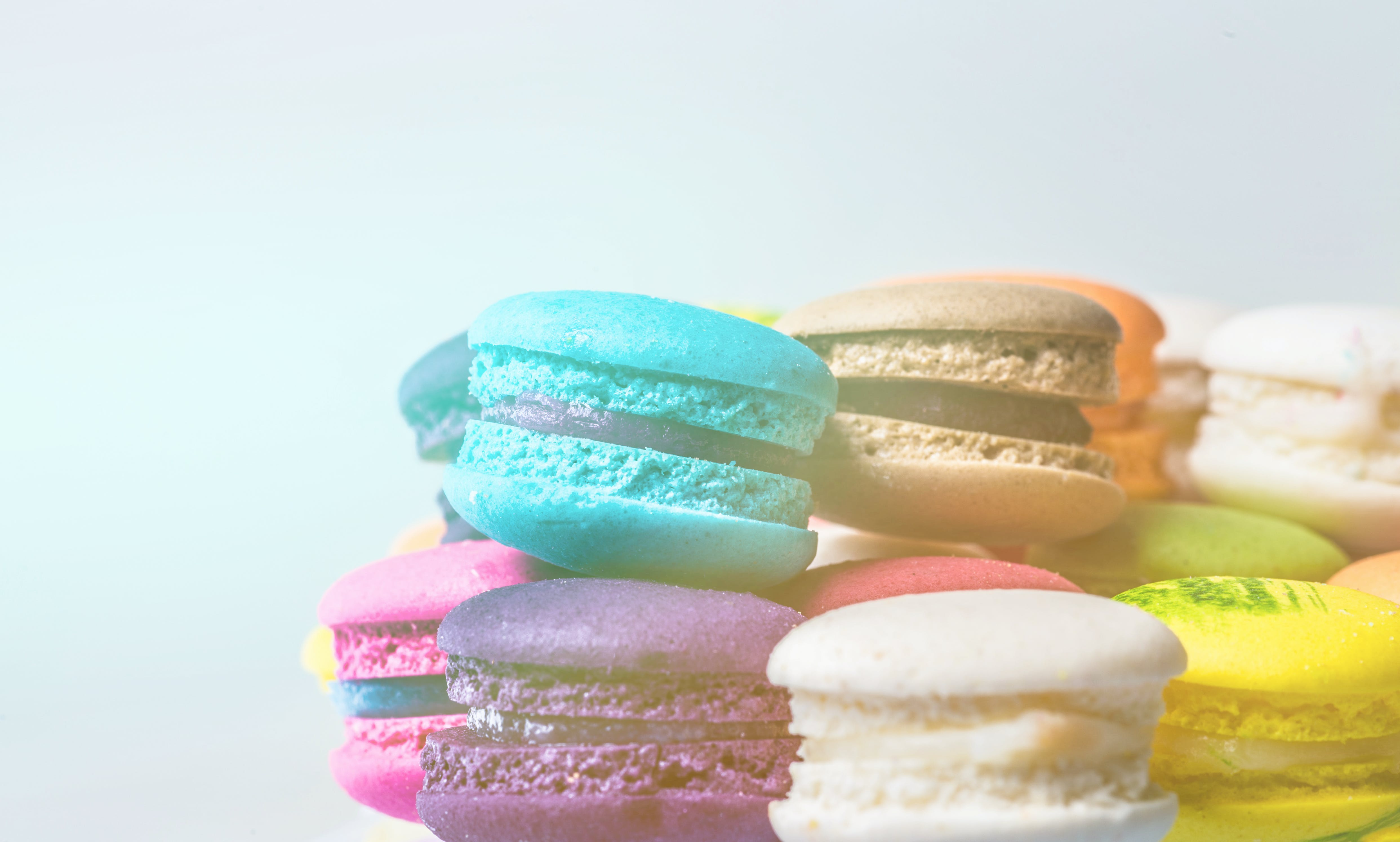 Pile of French Macarons