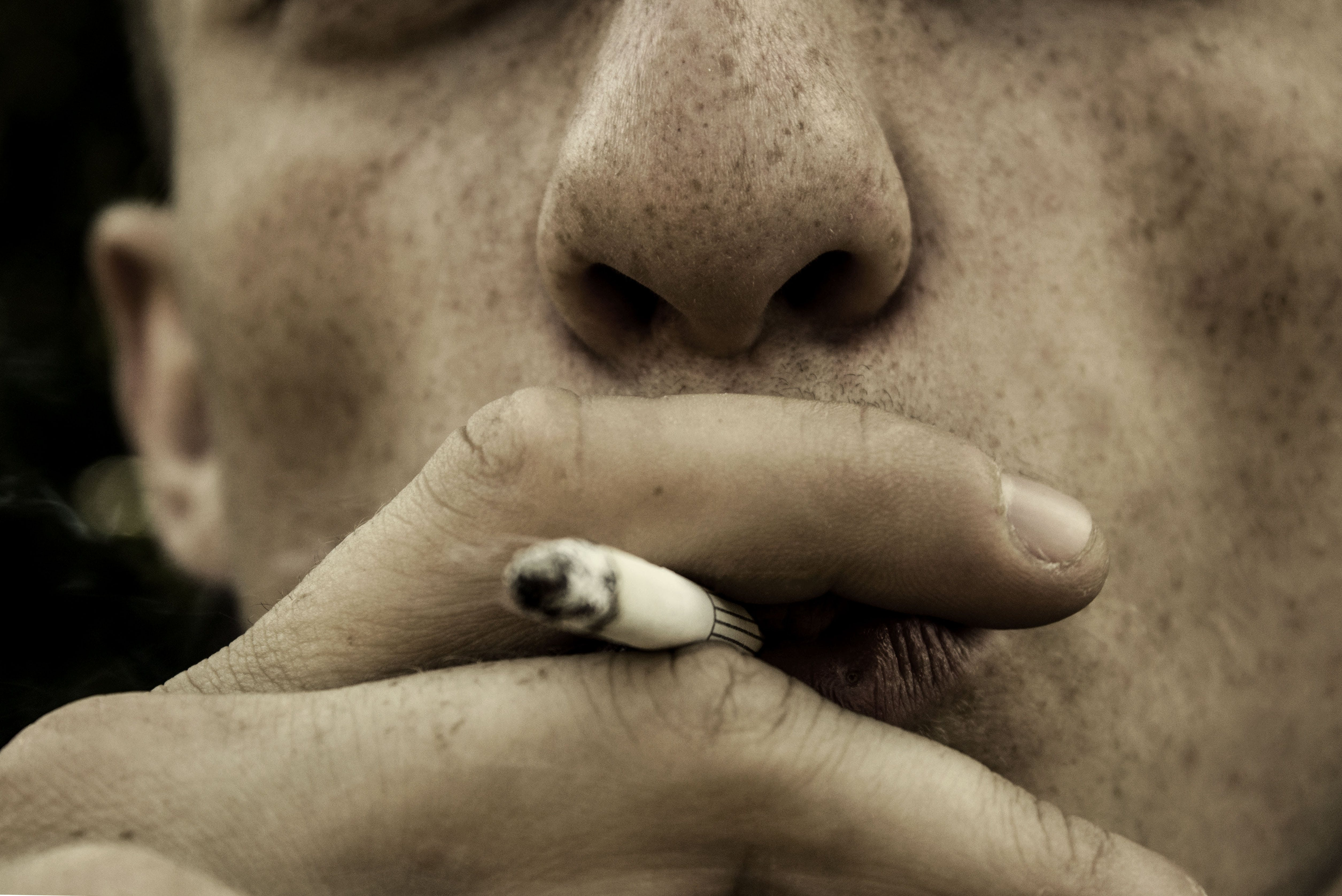 Free stock photo of man, person, hand, cigar