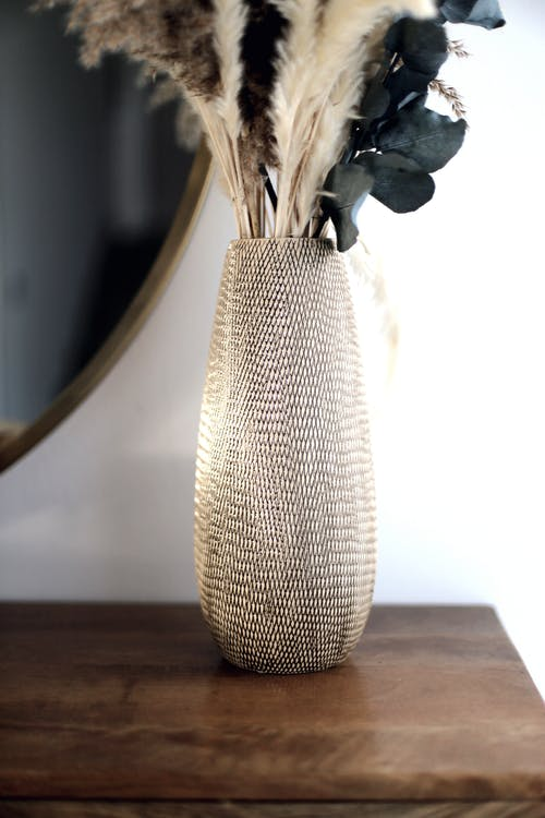 Vase With Dried Plants