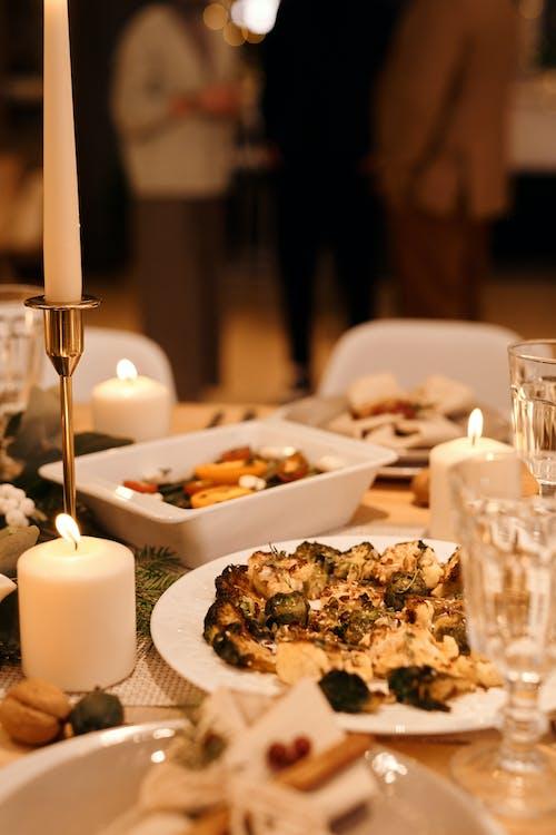 Comida Servida No Jantar De Natal