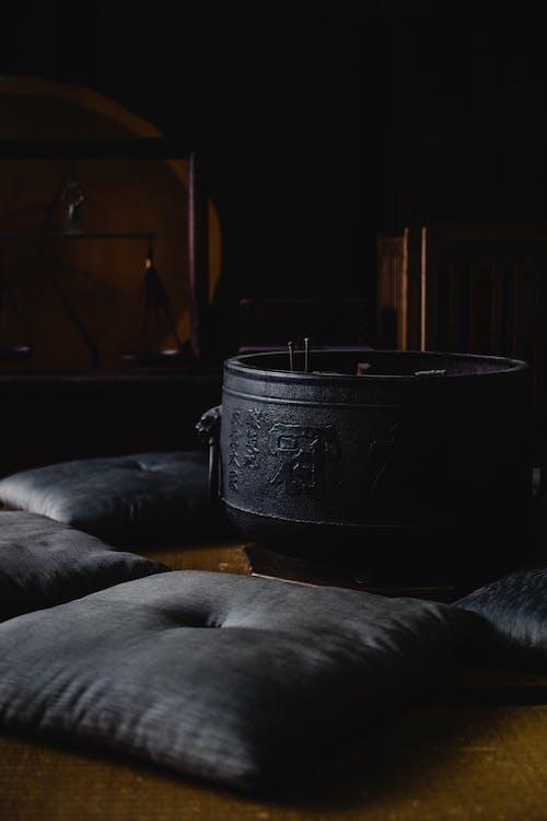 Black Pot on Black Textile