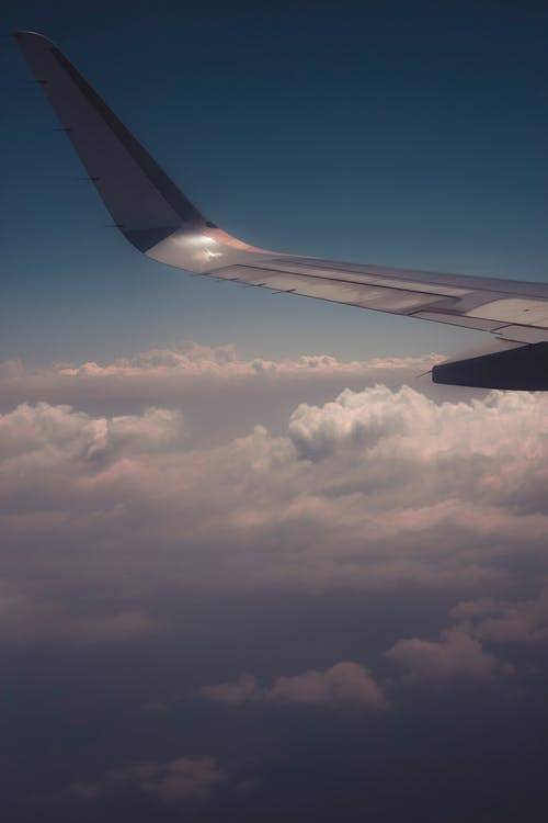 Free stock photo of above the clouds, aeroplane, aircraft wing, journey