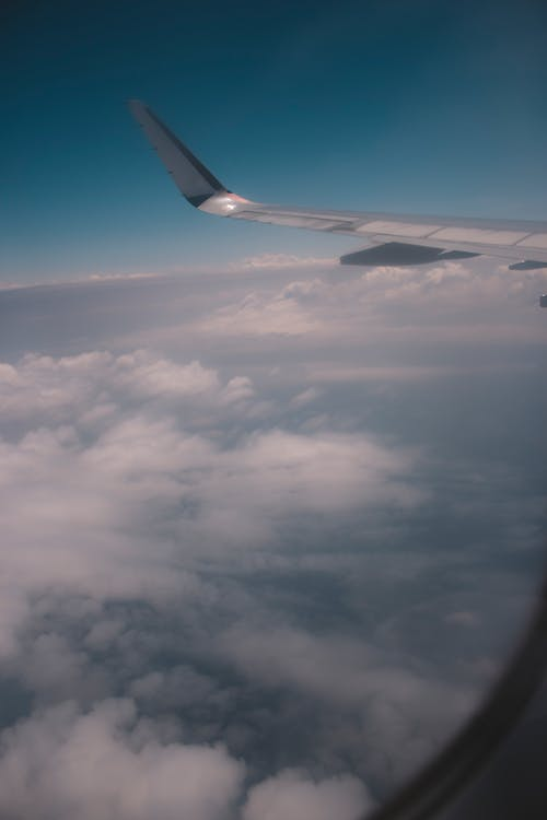 Free stock photo of above the clouds, aeroplane, aircraft wing, heaven