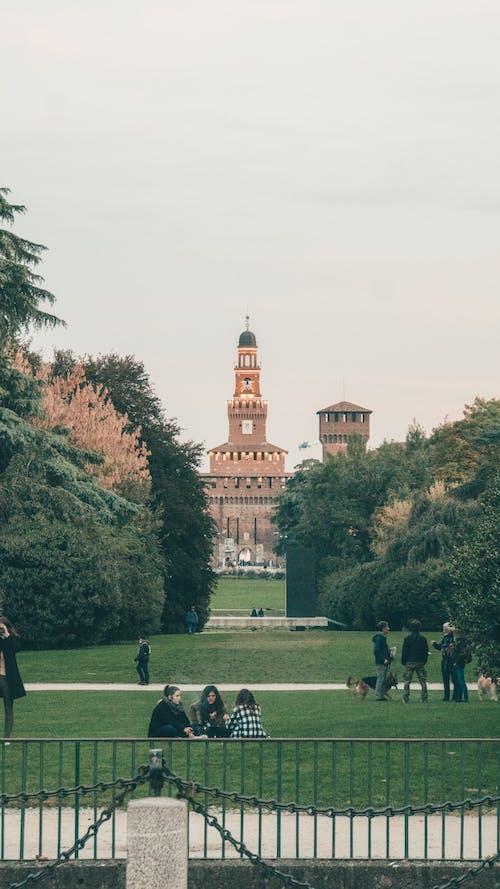 Fotobanka sbezplatnými fotkami na tému hrad, Miláno